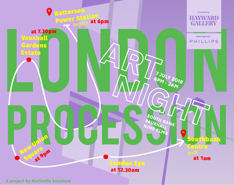 LONDON ART NIGHT, curated by HAYWARD GALLERY